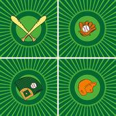 Beyzbol simgesi — Stok Vektör