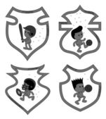 Sport selection cartoon guy — Stockvektor