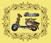 Scooter famous classic — Stock Vector