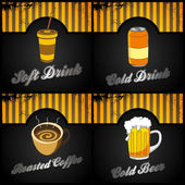Food and drink compilation — Stock Vector