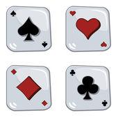 Button poker — Stock Vector