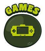 Console giochi — Vettoriale Stock