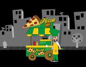 Pizza stand — Stockvector