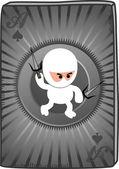 Poker card ninja — Stock Vector