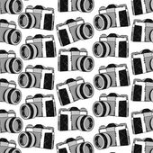 Photo camera pattern — Stock Vector