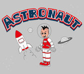 Astronaut cartoon — Stockvector