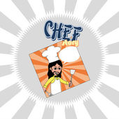 Chef cartoon — Vector de stock