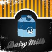 Milk dairy — Stock Vector