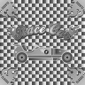 Retro race car vintage — Stock Vector