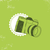 Vintage photo camera — Vector de stock