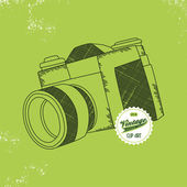 Vintage photo camera — Vetorial Stock