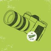 Vintage photo camera — Stock Vector