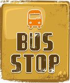 Bushaltestelle schild — Stockvektor