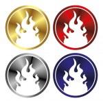 Fire button — Stock Vector #45211561