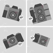 Classic manual vintage camera — Stockvector