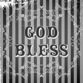 God bless — Stock Vector