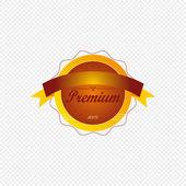 Premium label — Stock Vector