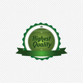 Highest quality label — Stock Vector