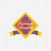 Premium quality label — Stock Vector