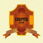 Motocykl Chopper — Wektor stockowy