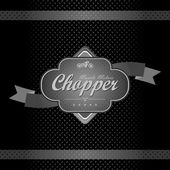 Chopper motorfiets etiket — Stockvector