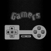 Game stick icon button — Stockvektor