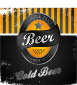 Vintage beer — Cтоковый вектор