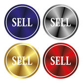 Sell button — Stock Vector