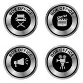 Movie theme button — Stock Vector