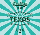 Texas — Vector de stock