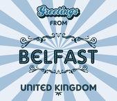 Belfast — Stock Vector