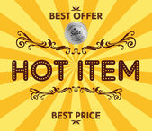 Product hot item sale — Stock Vector