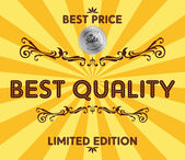 Product best quality sale — Stock Vector