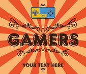 геймеры ретро — Cтоковый вектор