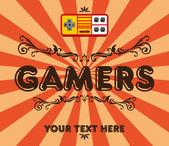 Gamers retro — Stock Vector