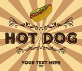 Hot dog vintage — Stock Vector