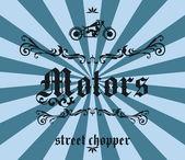Chopper motor — Stock vektor