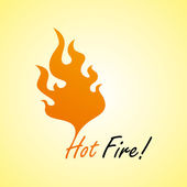 Fire hot art — Stock Vector