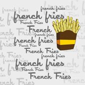 French fries art page — Stock Vector