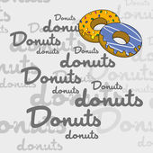 Donut art page — Stock Vector