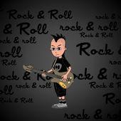 Music cartoon guy — Stock Vector