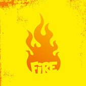 Fire art template — Stok Vektör