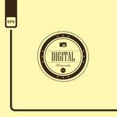 Digital photography — Stock Vector