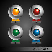 Sphere web cam set — Stock Vector