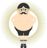 Fat  guy avatar — Stock Vector