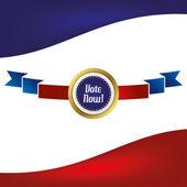 Etykieta wstążki głosowania — Wektor stockowy
