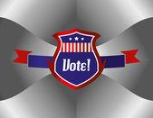 Vote shield patriot theme — Stock Vector