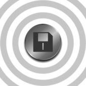Round  button — Stock Vector