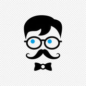 Mustache geek gentleman — Stock Vector