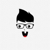 Funny nerd guy — Stock Vector